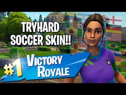 Sweaty Soccer Skin!! 14 Elims!! - Fortnite: Battle Royale Gameplay