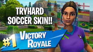 Sweaty Soccer Skin!! 14 Elims!! - Fortnite: Battle Royale Gameplay