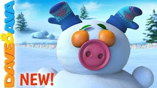🐭 Roll, Roll, Roll the Ball  | Christmas Songs for Kids  | Baby Songs by Dave and Ava 🐭