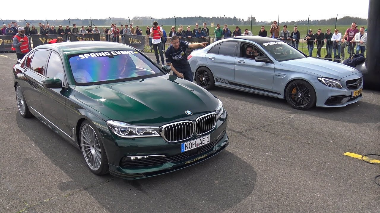 Alpina BMW B BiTurbo Vs CS AMG Vs Audi RS Avant YouTube - Bmw m7 alpina