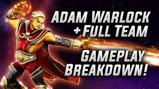 Adam Warlock + Full Team Gameplay Breakdown! - MARVEL Strike Force - MSF