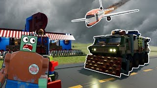 LEGO PLANE CRASH CAUSES ZOMBIE APOCALYPSE! - Brick Rigs Roleplay Gameplay - Lego City Zombie Movie