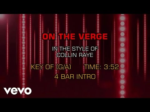 Collin Raye - On The Verge (Karaoke)