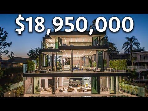 Touring an $18,950,000 BEL AIR Modern Mansion with Incredible Lake Views
