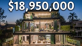 Touring an $18,950,000 BEL AIR Modern Mansion with Incredible Lake Views
