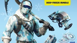*NEW* Leaked Deep Freeze Bundle & Frostbite SKIN! (Fortnite Battle Royale #106)
