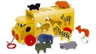 Мультики про машинки и зверей на детской площадке. Игрушки для детей