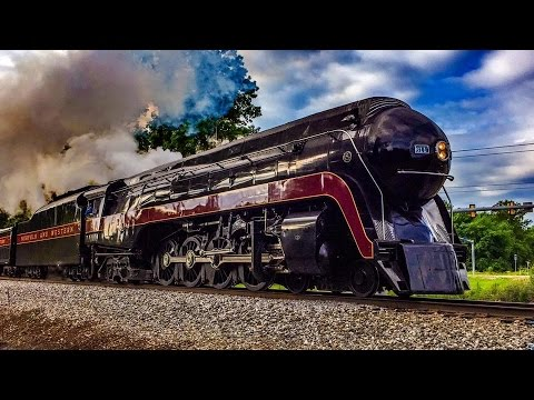 Chasing Norfolk & Western J Class 611 Between Manassas & Front Royal, Virginia 6/7/15 (Multi-Angle)