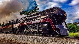 Chasing Norfolk & Western J Class Northern 4-8-4 611 Between Manassas & Front Royal, Virginia 6/7/15