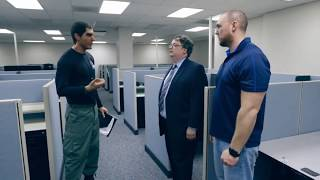 "Sacha Baron Cohen As Erran Morad | How To Defeat ""Terrorist"" | Who Is America? FUNNY CLIP"