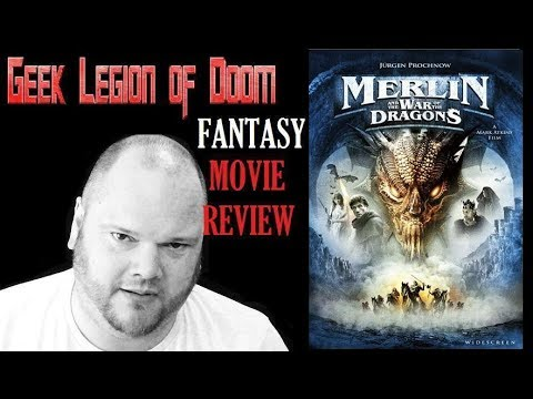 MERLIN AND THE WAR OF THE DRAGONS ( 2008 Jürgen Prochnow ) Fantasy Movie Review