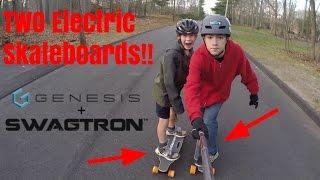 TWO Electric Skateboards!! Genesis Hellfire + Swagboard NG1 VLOG!
