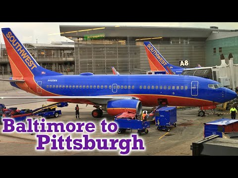 Full Flight: Southwest Airlines B737-700 Baltimore to Pittsburgh (BWI-PIT) ~ 2nd ed.