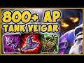 WTF! COLLECT 6000+ GOLD WORTH OF FREE AP WITH TANK VEIGAR?? VEIGAR TOP GAMEPLAY! - League of Legends