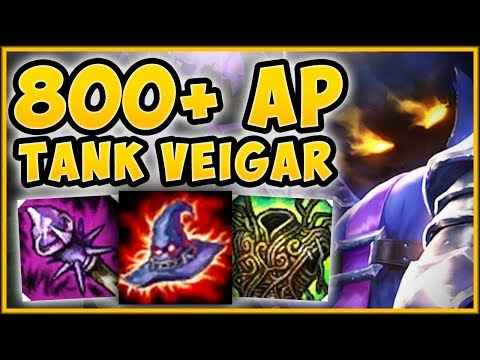 WTF COLLECT 6000+ GOLD WORTH OF FREE AP WITH TANK VEIGAR?? VEIGAR TOP GAMEPLAY - League of Legends