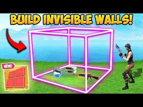 *TRICK* HOW TO BUILD INVISIBLE WALLS! - Fortnite Funny Fails and WTF Moments! #434