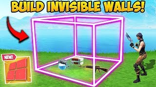 *NEW TRICK* HOW TO BUILD INVISIBLE WALLS! - Fortnite Funny Fails and WTF Moments! #434