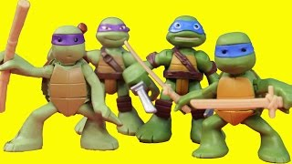 teenage mutant ninja turtles half shell heroes tmnt leo donnie replica robot battle shredder krang