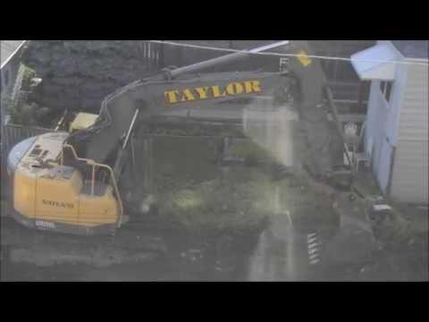Volvo ECR235CL Excavating Vacant Lot [8-1-2016]