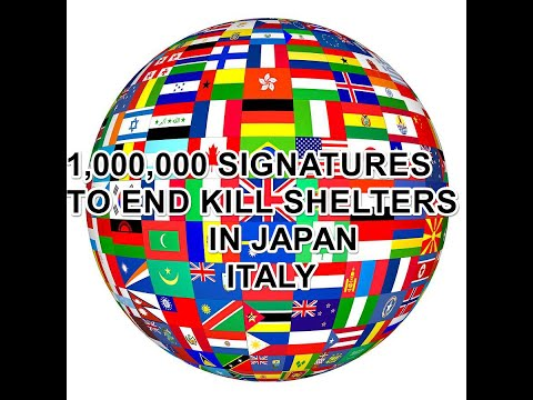 1,000,000 SIGNATURES TO END KILL SHELTERS IN JAPAN ,ITALY
