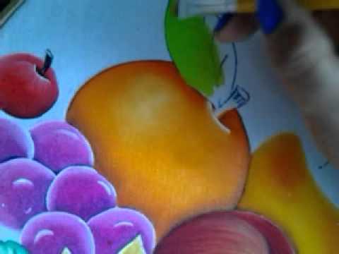 Pintura en tela naranja con cony youtube - Pintura en tela dibujos ...