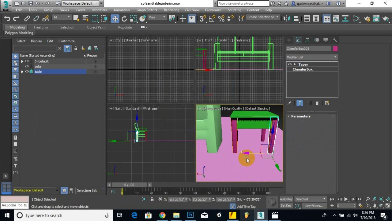 Part 05  - How To Create interiors sofa and tables in max | become max modeler