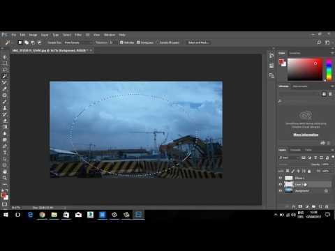 Cara Memotong Gambar Bentuk Lingkaran Di Photoshop Youtube