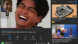 Reacting to guava juice fortnite dances in real life