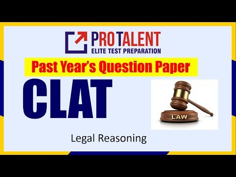 CLAT 2017 Question Paper Solution I Legal Reasoning for CLAT I ProTalent