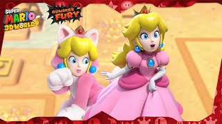 Super Mario 3D World for Switch ᴴᴰ   World 2 (All Green Stars & Stamps) Solo Peach