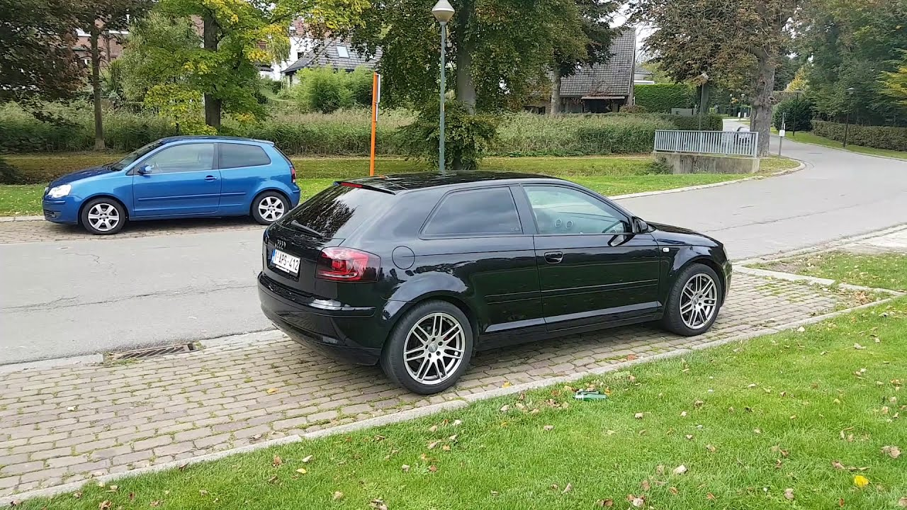 my full black 2007 audi a3 8p 1 9 tdi belgium youtube. Black Bedroom Furniture Sets. Home Design Ideas