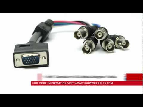 5 BNC Female to VGA Male Adapter Cable #25-165-001 - YouTubeYouTube