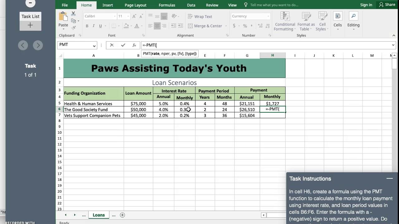 SAM Module 7 Exam Excel