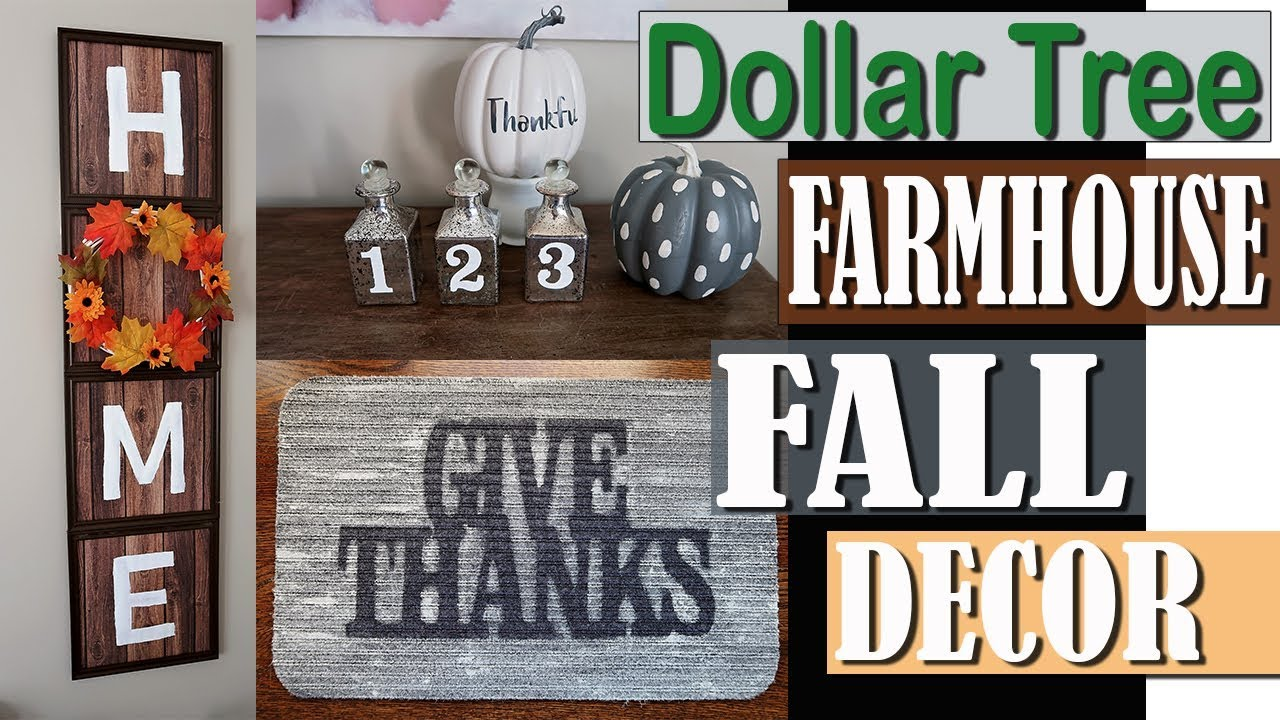 Dollar Tree Farmhouse Fall Decor 2018 Dollar Tree Diy