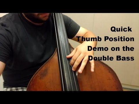Double bass thumb position