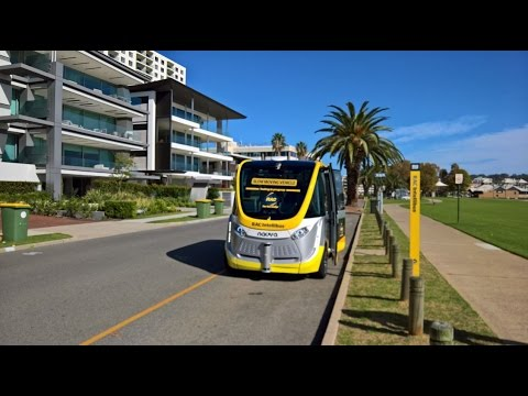 Test driving the Worlds first Self driving Bus in Australia
