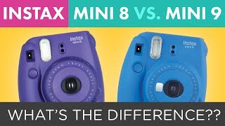 Fuji Instax Mini 9 vs. Fuji Instax Mini 8 Instant Film Camera Comparison