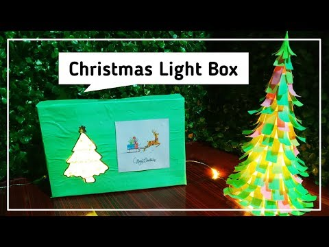 Christmas Decor DIY | Light Box | Best out of Waste Craft | #129