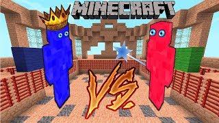 Minecraft SAVAŞLARI - 100 KRAL vs 100 BÜYÜCÜ (Clay Soliders)