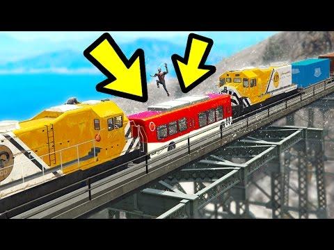 CAN YOU STOP THE TRAIN CRASH IN GTA 5? (Incredible)