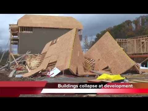 Buildings collapse at Cameron Harbor in Chattanooga