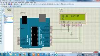 Arduino to 16*2 LCD Display Proteus - Arduino Proteus Simulation tutorial # 5
