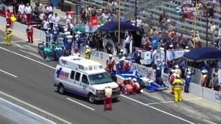 Verizon IndyCar 2015. Indianapolis 500. Pit lane incident