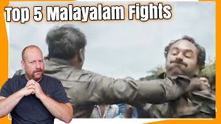 Top 5 Malayalam Fight Scenes | Reaction