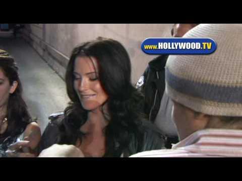 EXCLUSIVE:Bridget Regan Behind El Capitan Theatre in Hollywood.