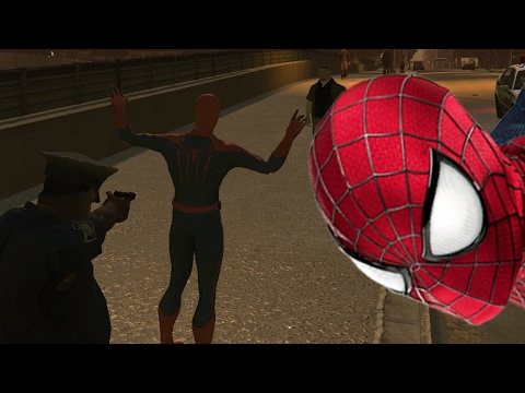 The amazing Spiderman arrested
