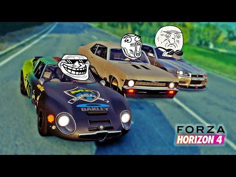 CORRIDA Troll do Alfa Romeo vs Nissan GTR - Forza Horizon 4 - 동영상