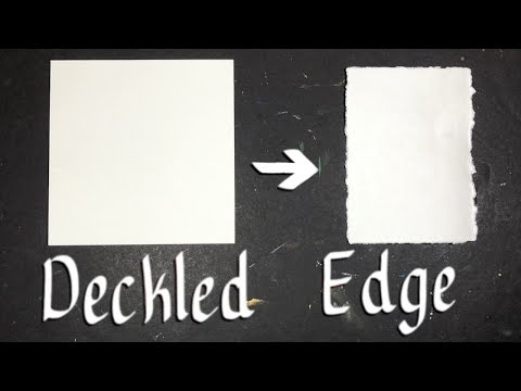 How to: ROUGH CUT PAPER (Deckled Edge)