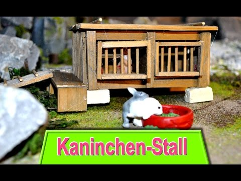 kaninchenstall f r schleich tiere bastelanleitung youtube. Black Bedroom Furniture Sets. Home Design Ideas