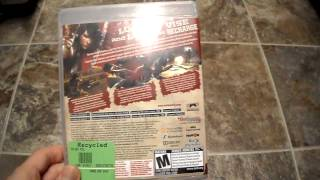Unboxing WET Bethesda Sony playstation 3 PS3 PSN